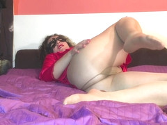 Mail Delivery-Hotwife Venus Soaking Pantyhose with Juices After Dildo Fuck