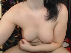 busty Ana make her cunt squirt cream