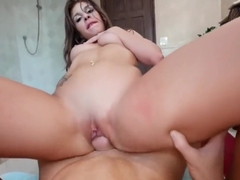 Sexy Latina Carmen Caliente Hot Fuck And Cum In Mouth