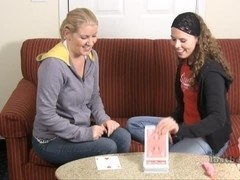 Ashley and Amber play Strip High Card