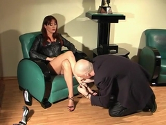 Crazy homemade Foot Worship, Femdom sex movie