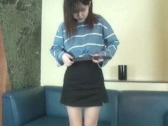 Petite Japanese teen girl first time casting part 1