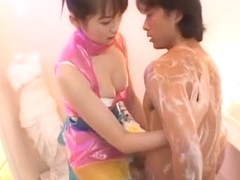 Horny Japanese chick Asami Ogawa in Exotic Shower, Stockings JAV movie