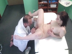 Doctor fucks tattooed brunette