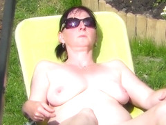 Neighbour naked sunbathing