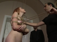 Amarna Miller Blonde FrogTied Bondage Sex P1 (More on TeenPornMaster)