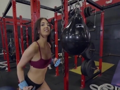 Aubrey Rose Fuck Her Personal Trainer During Session