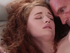 Ginger Stepdaughter Abbey Rain gets Fucked