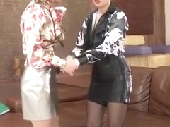 lesbian Mistress gives and gets anal fisting