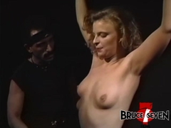 BRUCESEVENFILMS - Jamie Leigh tied up and whipped roughly