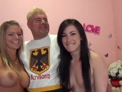 Fabulous pornstars Brianna Brooks and Jennifer White in amazing lingerie, fishnet sex clip