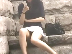 Japanese no panties under skirt 33-03