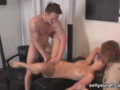 Brian & Jeff & Ani Black Fox in Double-Squirting Fuck - SellYourGF