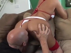 Unbelievable brunette Madelyn Marie featuring hot sex action ending with cumshot