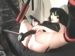masked dildo fucking machine squirt 2