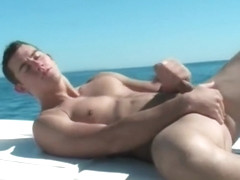 Dude wanking his fine cock on a boat part4