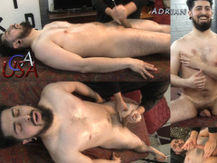 Bisexual Adrian involuntary responds to prostate stimul