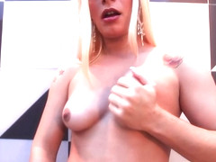 Smoking tranny buttfucked and jizzed on ass