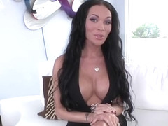 Sultry shemale babe Mia Isabella in hot bareback anal sex