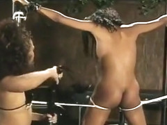Ebony Teens Are Tied Up Chained Up And Fucked
