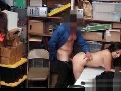 Thick Latina Teen Shoplifter Fucked By Horny Security Guard With Big Dick