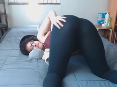 Meaty queefs in leggings bra and shoes with hairy armpits