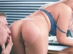 Big Melon Tits Girl (Kylie Page) Love hardcore Sex In Office video-14