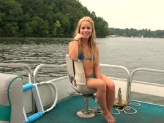 Blonde TEEN Step Sister gets PUBLIC CREAMPIRE ON BOAT!