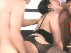 Tempting Sarah Shevon perfroming in amazing sex action ending with a huge cumshot