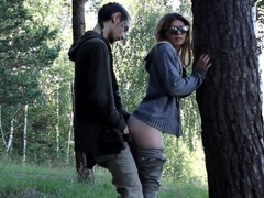 real sex with his wife in the woods