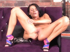 Strip tease and finger fucking