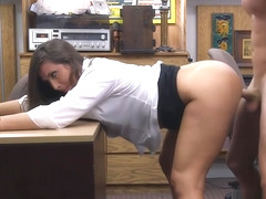 Bubble butt babe boned by pawnshop owner in the office
