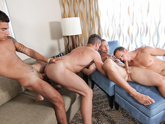 Alex Mecum, Brenner Bolton, Landon Mycles, Vadim Black in Men At Sea Part 7 - JizzOrgy