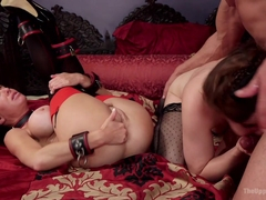 Veronica Avluv & Kasey Warner & Marco Banderas in Nymphomaniac Slave Punished With Double Pounding.