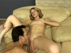 Horny blonde Lexi Mathews gets her dripping wet slit pulverized