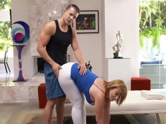 Milf getting fucked by her personal trainer