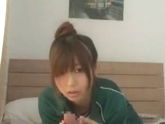 Horny Japanese whore Hikaru Ayami, Natsume Inagawa in Fabulous Blowjob, Handjobs JAV video