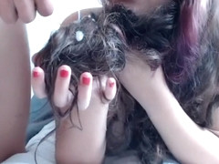 Cute Columbian teen hairjob ...