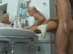 Alexis Malone Gets Bent Over The Sink And Screwed