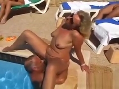 Swingers Fucking Outside At The Pool