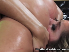 Sasha Heart in Hustler's Girl On Girl Oil