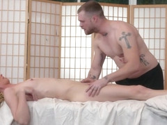 TS Mandy bangs her masseuses butthole