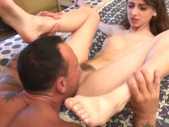 Cutie Willow Hayes gets her hot toes and feet licked out and pussy nailed in bed