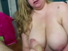 BBW want me cum on her big melons