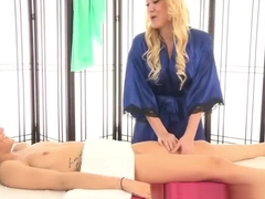 Godlike Alana Evans enjoy hot massage