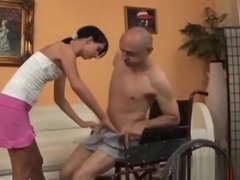 Olah Zsofia Riding Amputee Throbbing Rod On Couch
