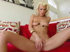 GiveMePink hottie Tanya masturbating until orgasm at home
