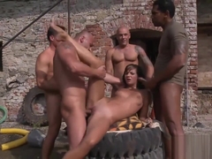 Outdoors Gangbang Session With Cameron Ferrari