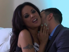 Oriental maid Kaylani Lei goes crazy about cock sucking