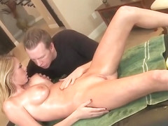 Nice buxomy Brynn Tyler in sweet massage sex video